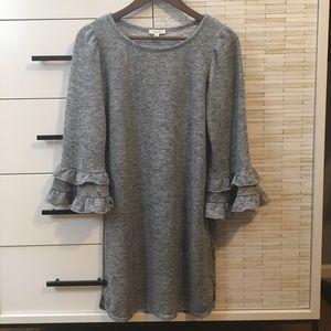Max Studio Women's Bell Sleeve Sweatshirt Dress